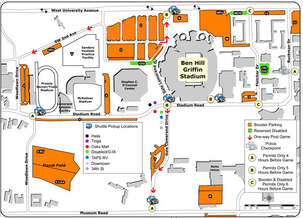 Campus Map Ufl.Bull Gator Gator Boosters Inc