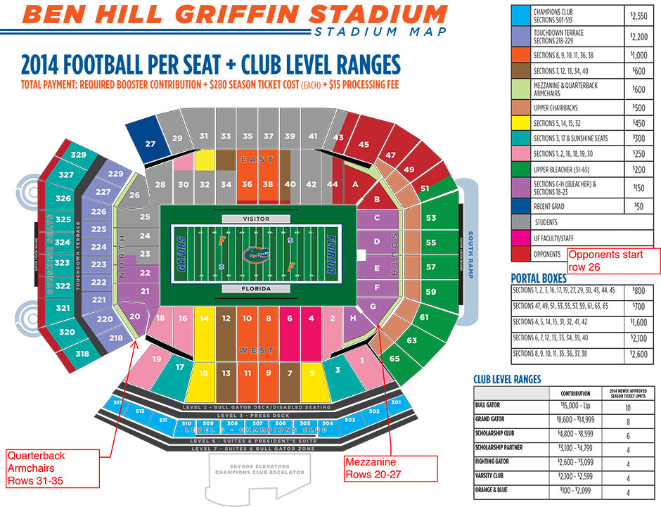 ben hill griffin stadium seating chart with seat numbers   Bare