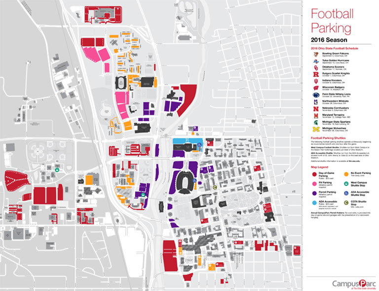 Ohio State Buckeye Club   Football Ticket and Parking Information on osu map.pdf, osu tunnels, osu state maps, osu the quick brown fox, osu stadium columbus ohio,