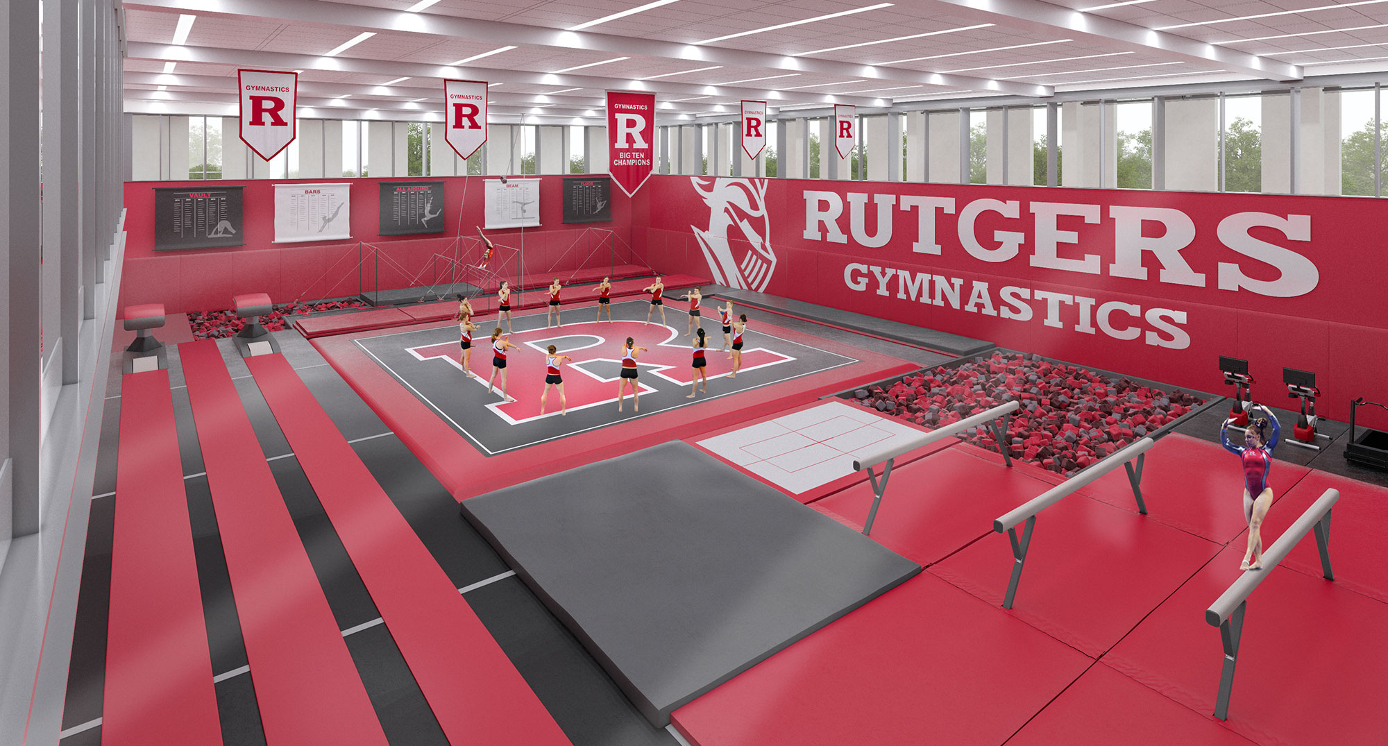 Rutgers Football Locker Room