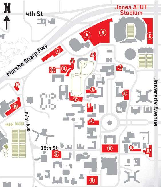 Texas Tech University Campus Map 15389 | LOADTVE