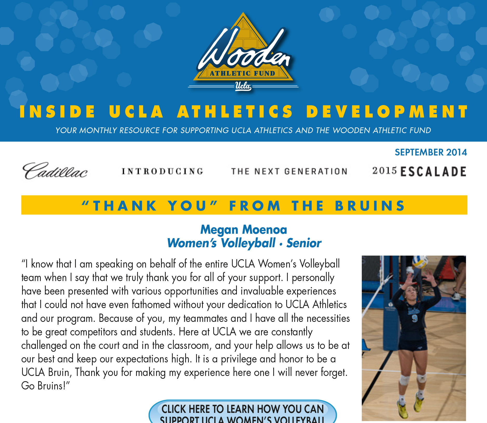 The Wooden Athletic Fund – Monthly Newsletter