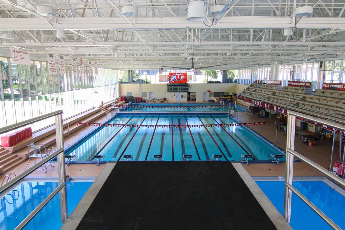 Utah athletics ute natatorium for Pool design utah