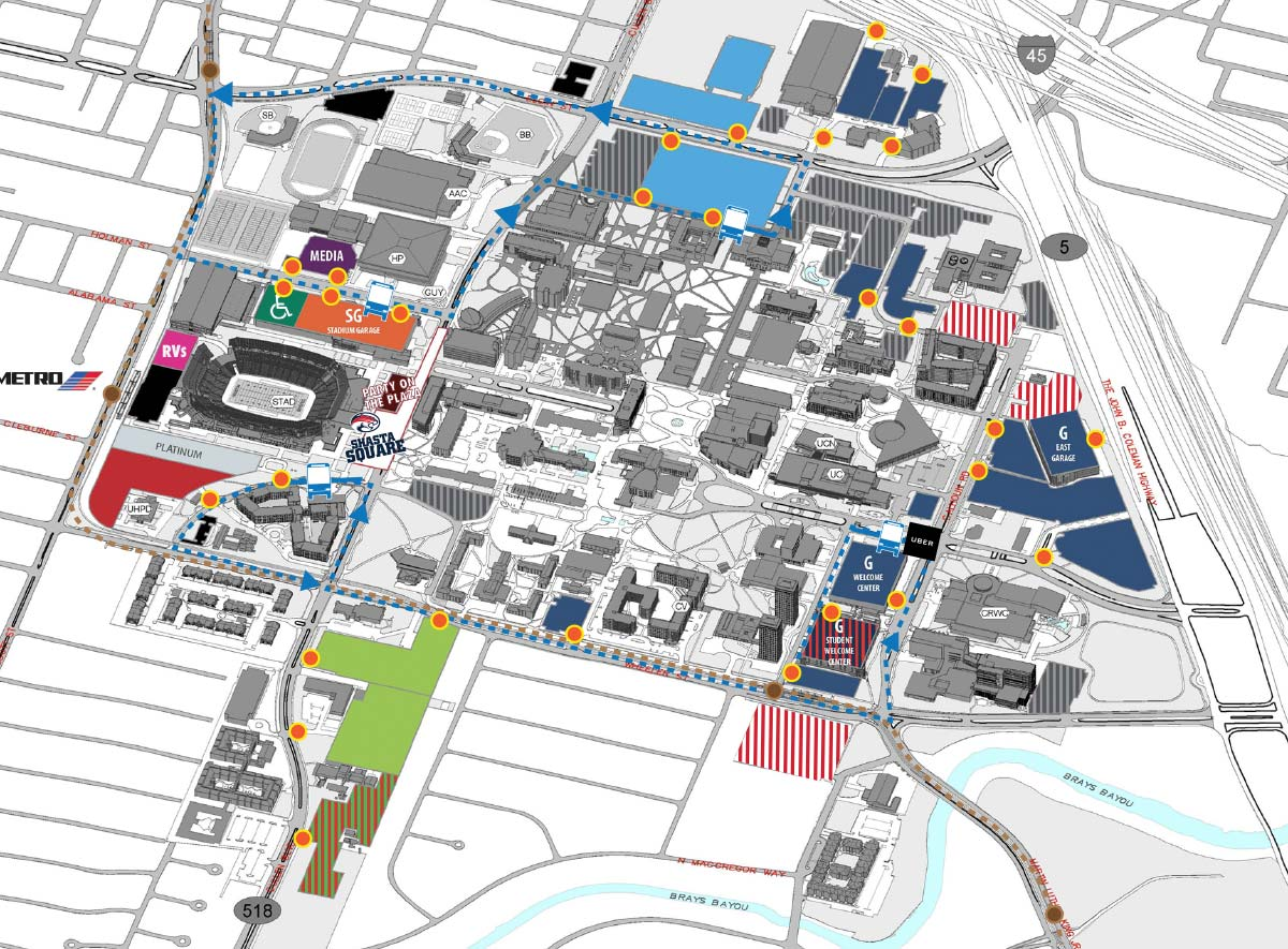 University Of Houston Parking Map Cougar Pride | Football Parking University Of Houston Parking Map