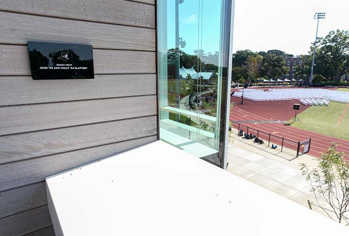 Ruane Friar Development Center balcony